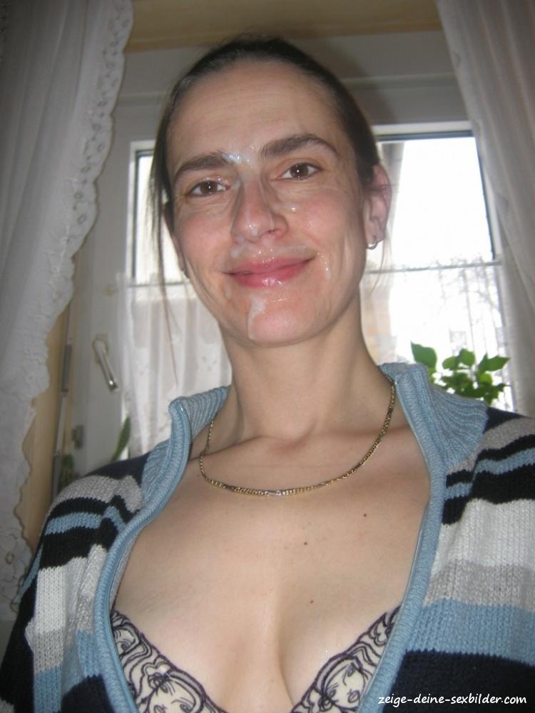 sexy madchen mit sperma im gesicht