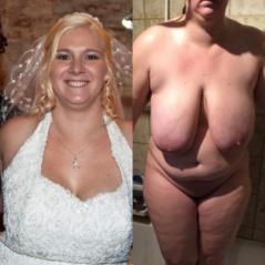 Bekleidet nackt reife und Nackt und